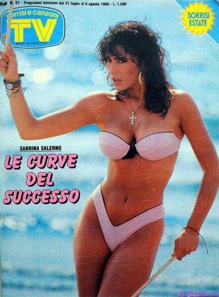 Сабрина Салерно на обложке журнала «Sorrisi e camzoniTV», август 1988 г.