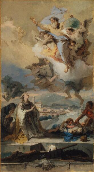 Джованни Баттиста Тьеполо, «Св. Фёкла, избавляющая население города Эсте от чумы», 1759 г.