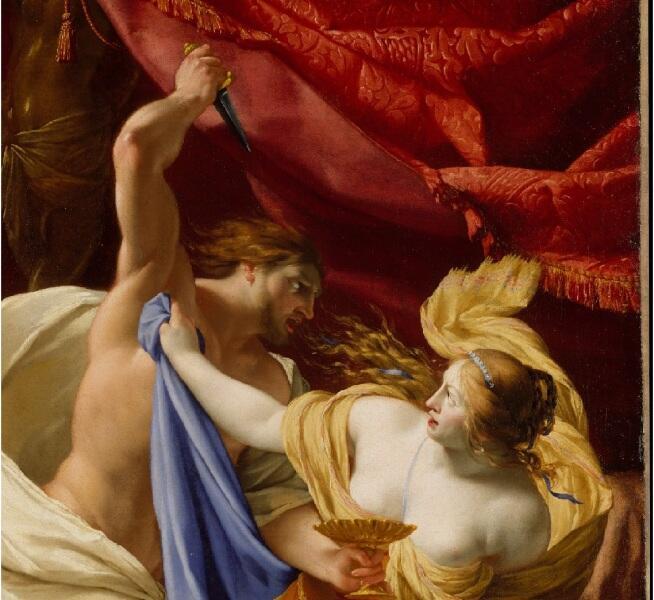 Симон Вуэ, «Тарквиний и Лукреция» фрагмент «Угроза»