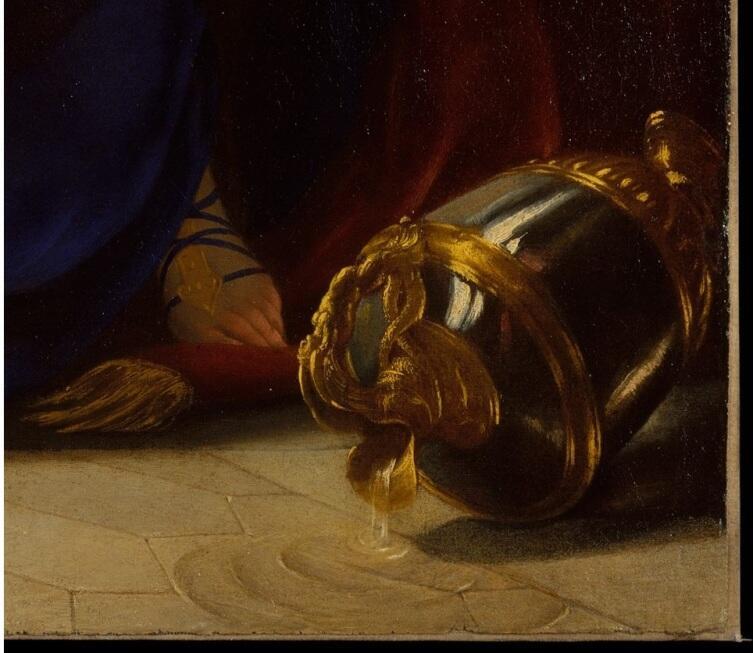 Симон Вуэ, «Тарквиний и Лукреция» фрагмент «Опрокинутая ваза»