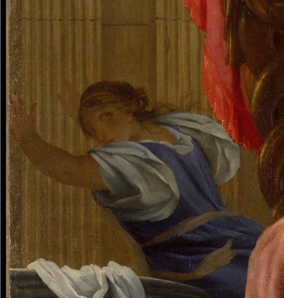 Симон Вуэ, «Тарквиний и Лукреция» фрагмент «Убегающая служанка»