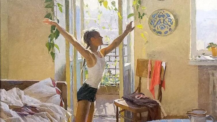 Т. Н. Яблонская, «Утро» (фрагмент), 1954г.