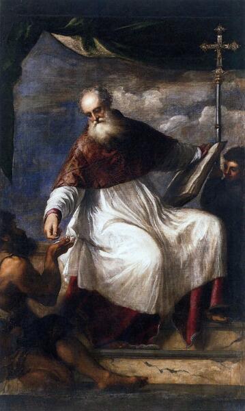 Тициан Вечеллио, «Святой Иоанн Милостивый», 1549г.