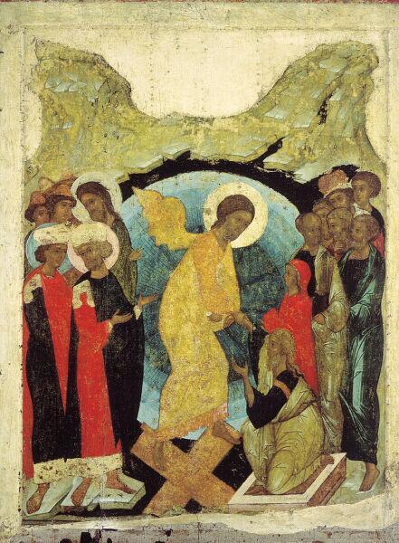Андрей Рублёв, икона «Воскресение Христово (Сошествие во ад)», 1408-1410 гг.