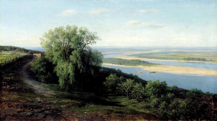 М. К. Клодт, «Волга под Симбирском», 1888 г.