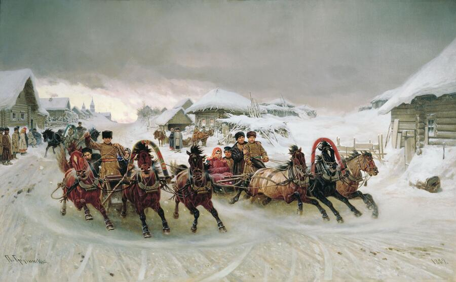 П. Н. Грузинский, «Масленица», 1889 г.