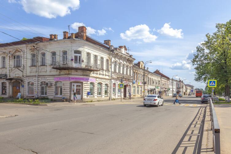 Вышный Волочёк. Казанский проспект. Городской пейзаж