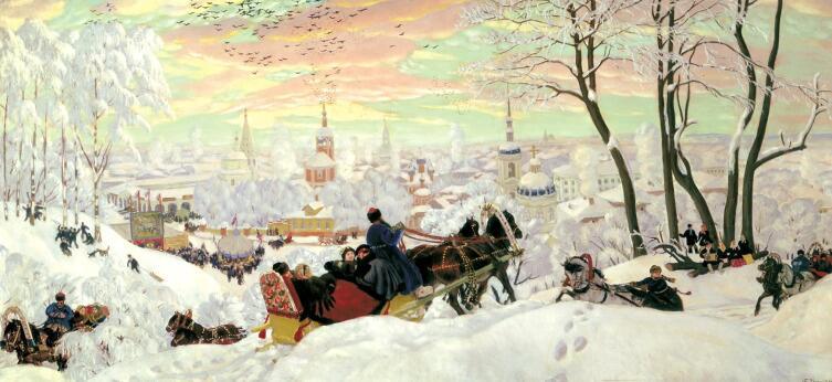 Б. М. Кустодиев, «Масленица», 1916 г.