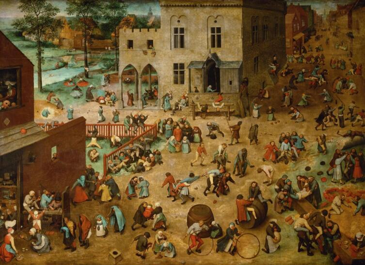 Питер Брейгель Старший, «Игры детей», 1560 г.