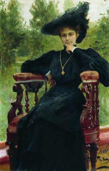 И. Е. Репин, «Портрет актрисы Марии Фёдоровны Андреевой», 1905 г.