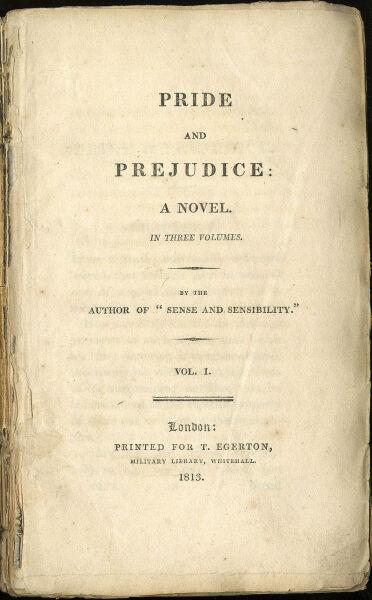 Титульный лист первого издания романа Джейн Остин