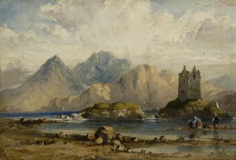 Ричард Паркс Бонингтон, «Замок на шотландском озере», 1820-е гг.