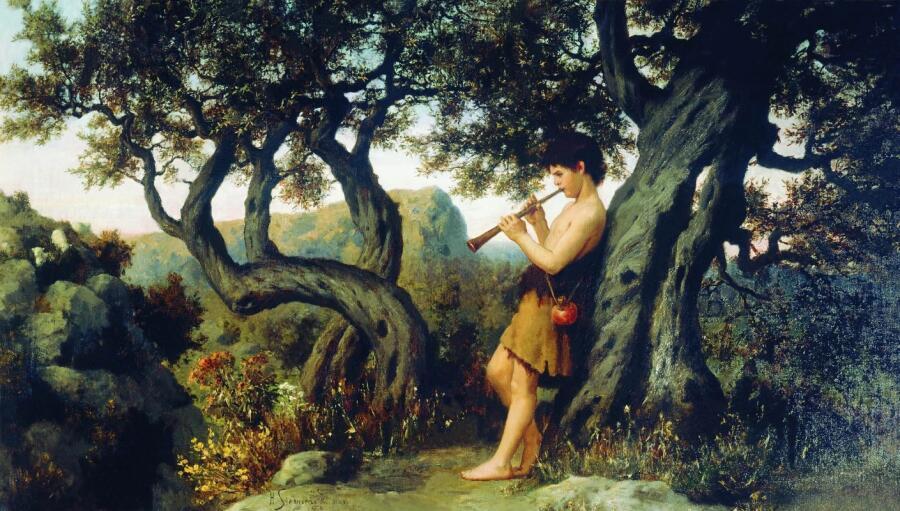 Г. И. Семирадский, «Пастушок, играющий на свирели»