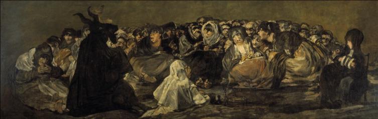 Франсиско Гойя, «Шабаш ведьм и великий козёл», 1823 г.