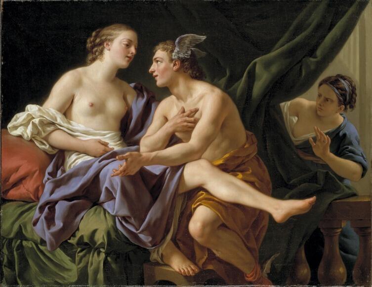 Луи Жан-Франсуа Лагрене, «Меркурий, Герса, Аглавра», 1767 г.