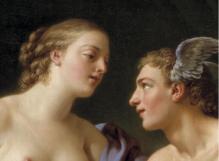 Луи Жан-Франсуа Лагрене, «Меркурий, Герса, Аглавра» (фрагмент), 1767 г.