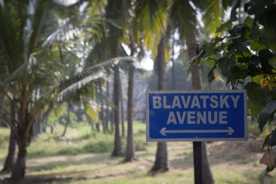 Авеню Блаватской в городе Адьяр. Индия