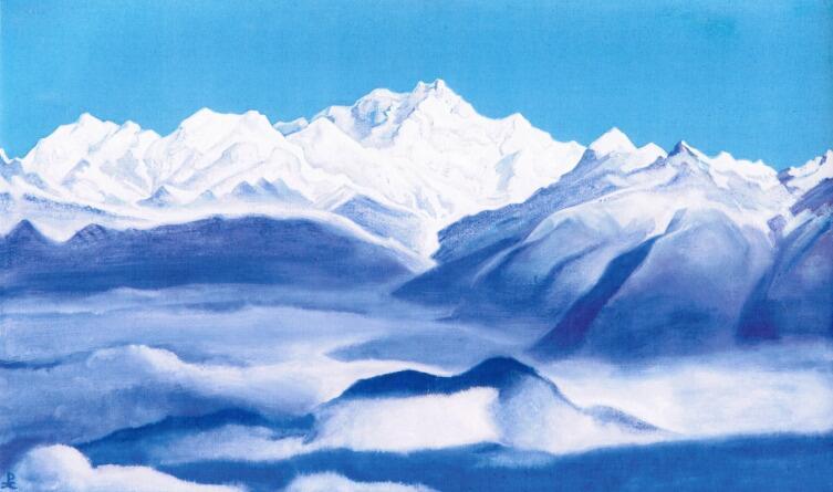 Н. К. Рерих, «Гималаи (Голубые горы)», 1939 г.