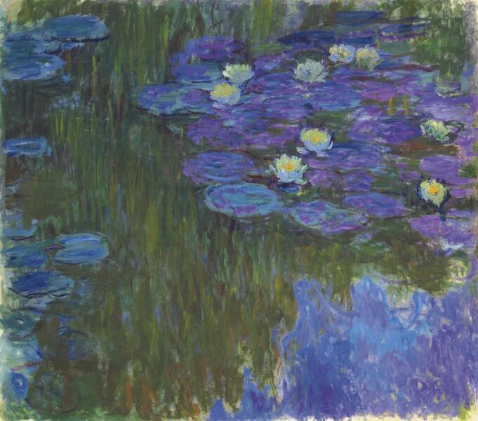 Клод Моне, «Кувшинки в цвету», 1917 г.
