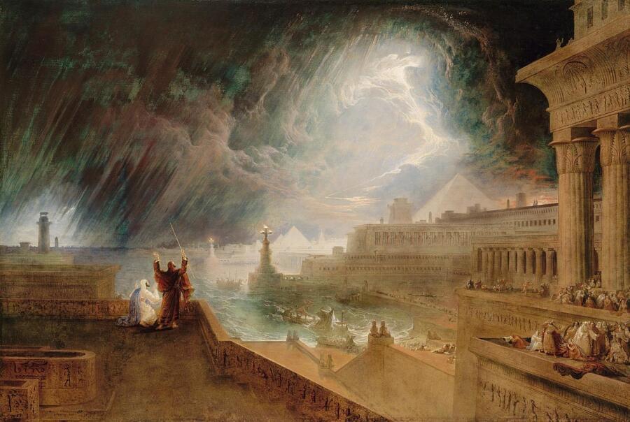 Джон Мартин, «Седьмая казнь», 1823 г.