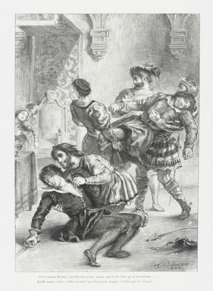 Эжен Делакруа, «Смерть Гамлета», 1843 г.