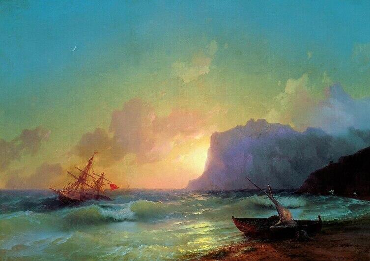 И. К. Айвазовский, «Море. Коктебель», 1853 г.