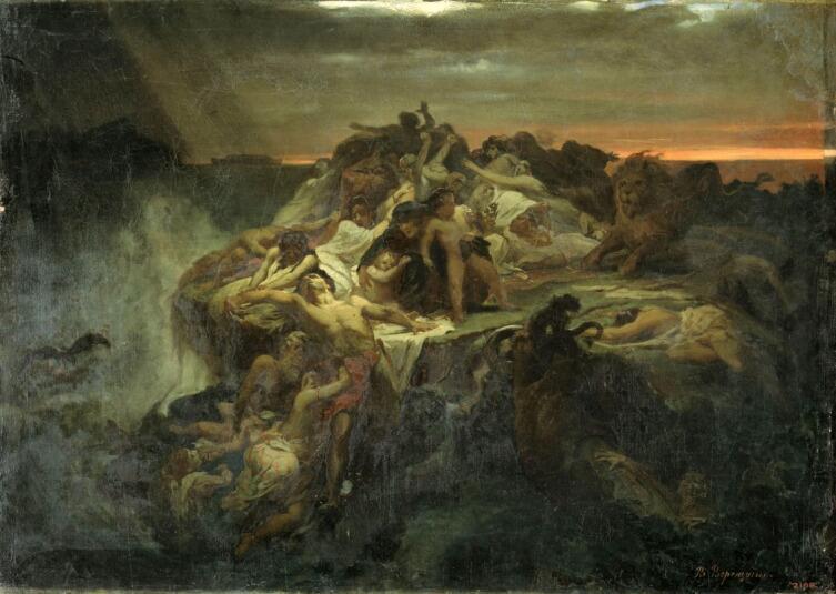 В. П. Верещагин, «Всемирный потоп. Эскиз», 1869 г.
