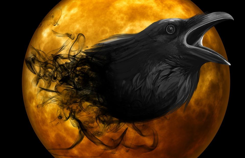 Картинки ворон и луна на телефон