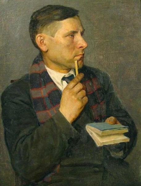 Н. Э. Радлов, «Портрет Михаила Булгакова», 1928 г.