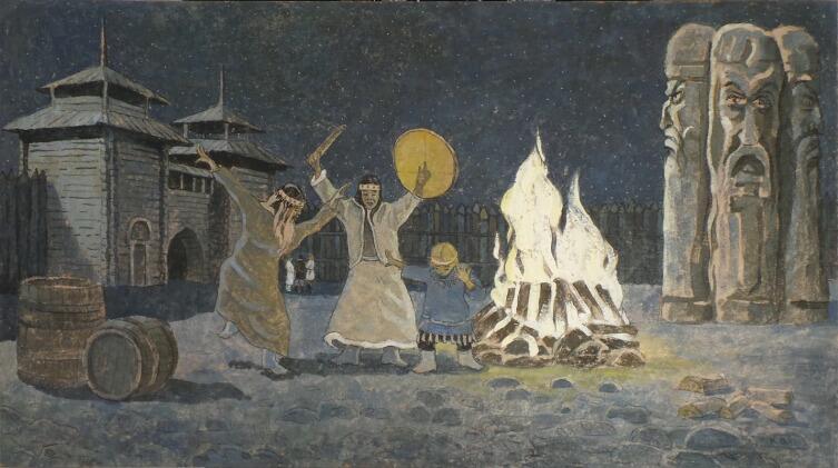 В. В. Комаров, «Языческий обряд посвящения», 2020 г.