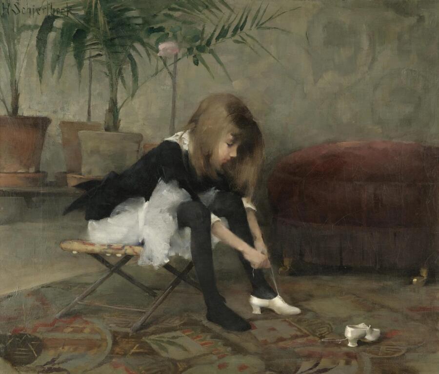 Хелена София Шерфбек, «Обувь для танцев», 1882 г.