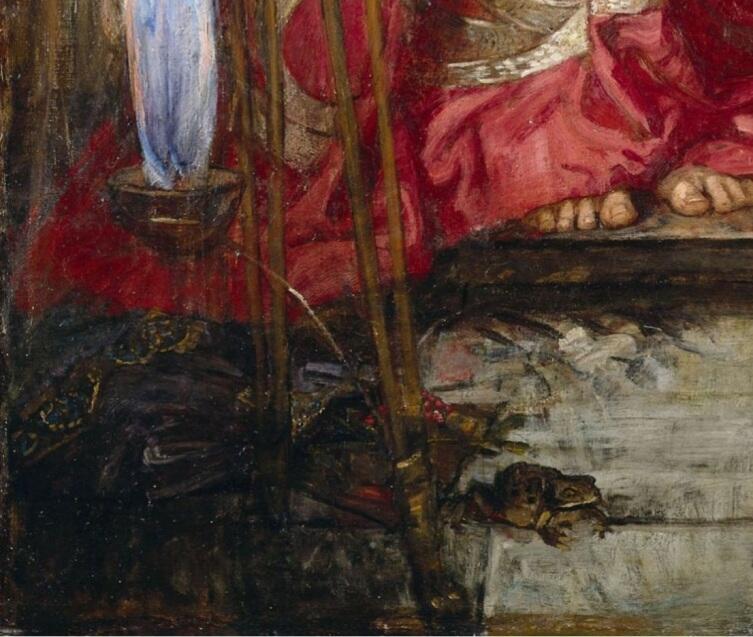 Джон Уильям Уотерхаус, «Ясон и Медея» (фрагмент «Жаба»), 1907 г.