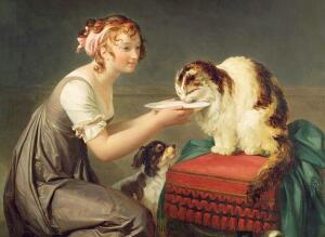 Для чего кошки и собаки присутствуют в классической живописи?