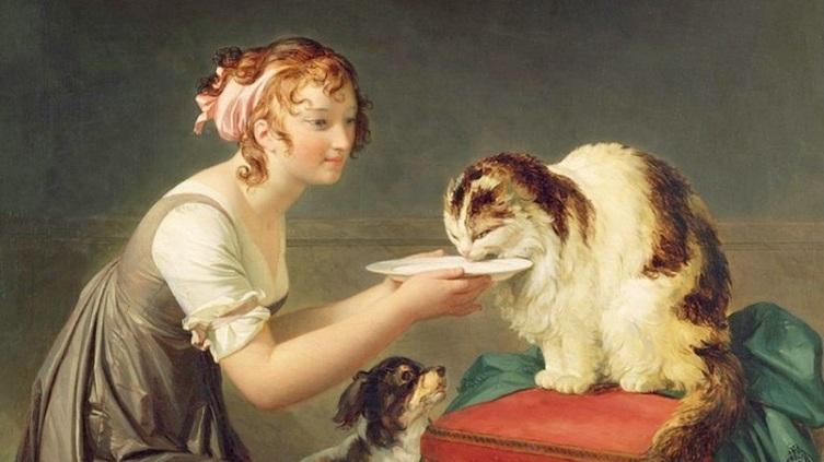 Маргерит Жерар, «Обед кошки» (фрагмент)