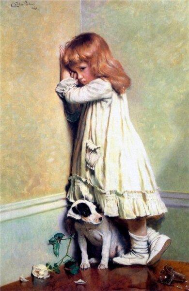 Чарльз Бертон Барбер, «Наказанные», 1893 г.