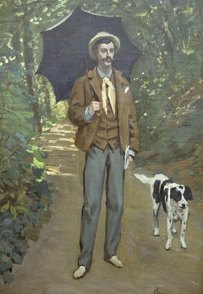 Клод Моне, «Портрет Виктора Жакмона, держащего зонт», 1865 г.