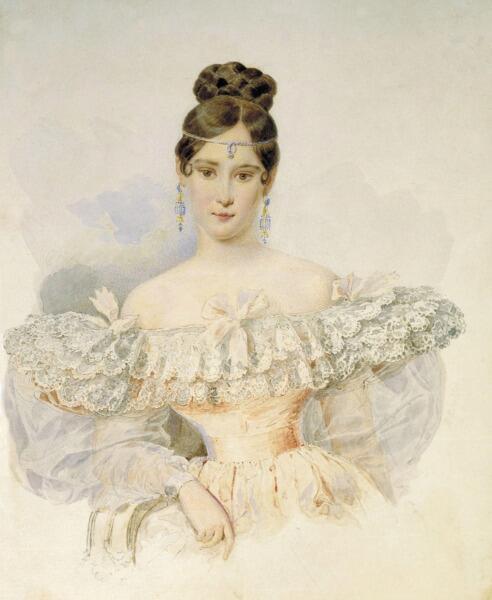 А. П. Брюллова, «Портрет Н. Н. Пушкиной», 1831 г.