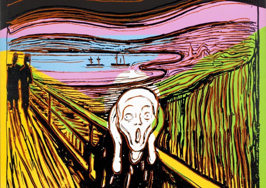 Энди Уорхол, «Крик (После Мунка)», 1984 г.
