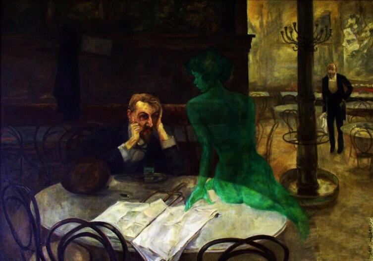 Олива Виктор, «Пьющий абсент», 1901 г.