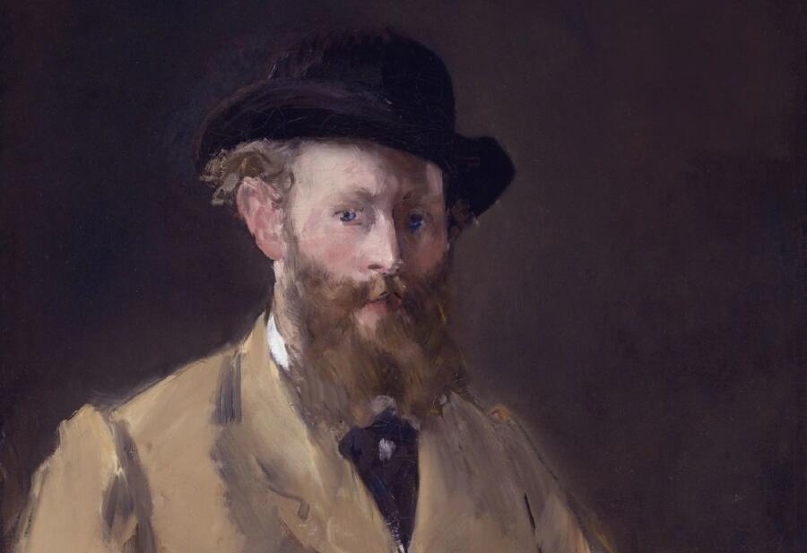 Эдуар Мане, «Автопортрет с палитрой» (фрагмент), 1879 г.