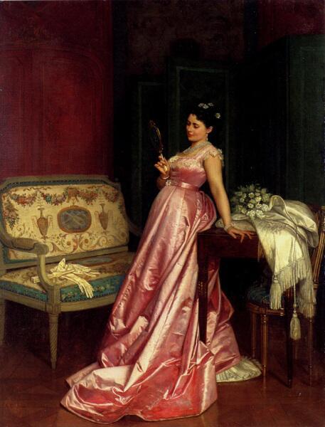 Огюст Тульмуш, «Зеркало», 1868 г.