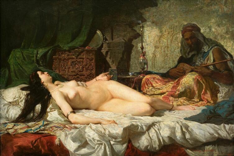 Мариано Фортуни-и-Карбо, «Одалиска», 1861 г.