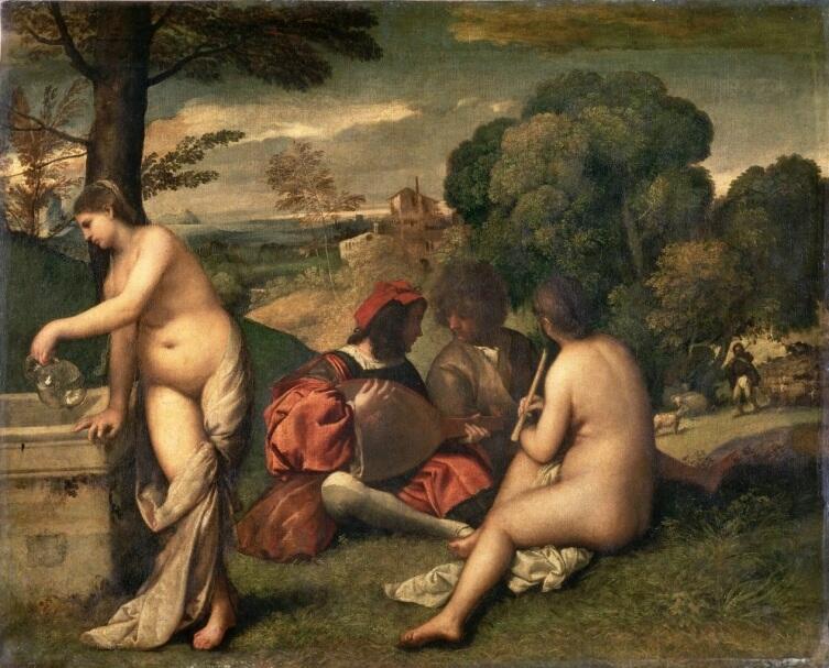 Джорджоне, «Сельский концерт», 1509 г.