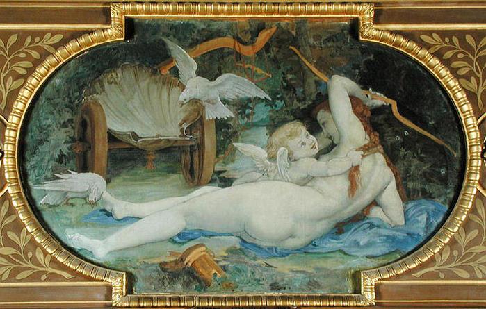Поль Бодри, «Венера, играющая с амуром»