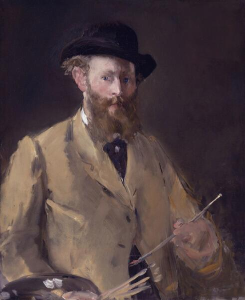 Эдуар Мане, «Автопортрет с палитрой», 1879 г.