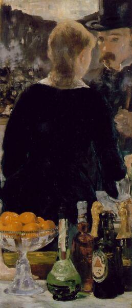 Эдуар Мане, «Бар в Фоли-Бержер» (фрагмент), 1882 г.