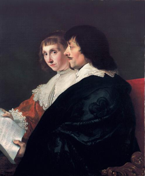 Якоб ван Кампен, «Двойной портрет Константина Гюйгенса и его жены Сусанны ван Баерле», 1635 г.