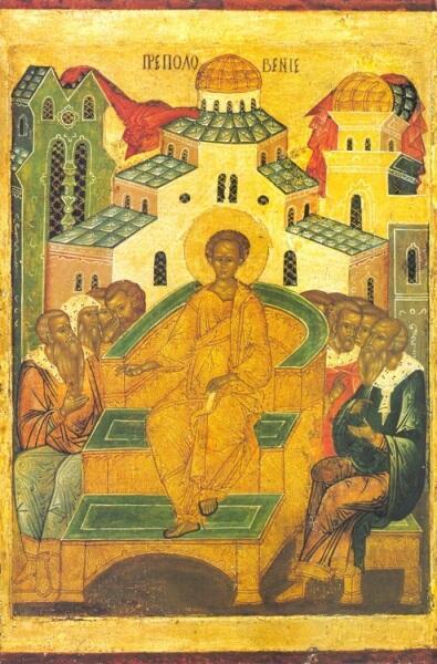 Преполовение. Икона XV века. Тверь