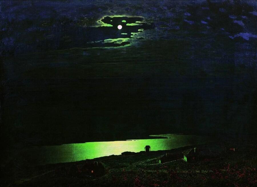 А. И. Куинджи, «Лунная ночь на Днепре», 1880 г.