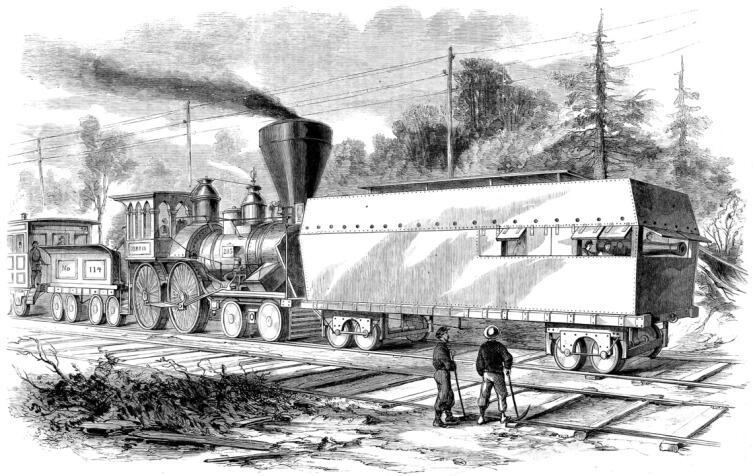 Бронепоезд армии Северных Штатов, 1861 г.